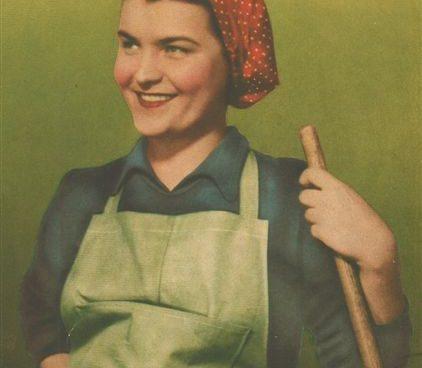 Pracovní oblečení s šátkem na hlavě